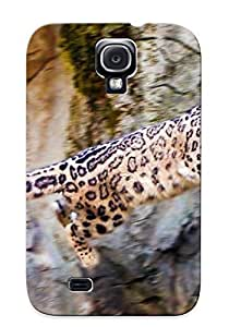 Storydnrmue Perfect Tpu Case For Galaxy S4/ Anti-scratch Protector Case (Animal Snow Leopard)