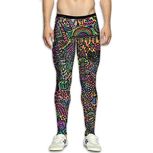 Michelle Thermal - Michelle Brightful Men's Baselayer Compression Pants Sports Leggings Trippy Acid Fitness Tights Yoga