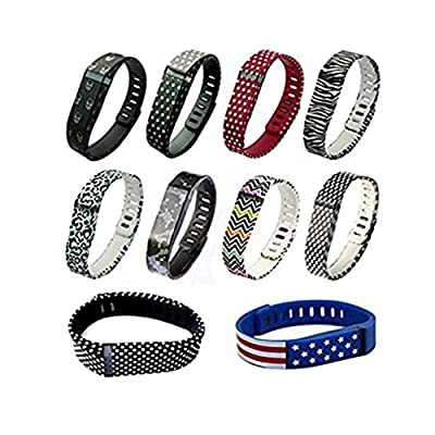 10PCS Replacement Bands with Clasps for Fitbit Flex Only /No Tracker/ Wireless Activity Bracelet Sport Wristband Fit Bit Flex Bracelet Sport Arm Band Armband-Small Size