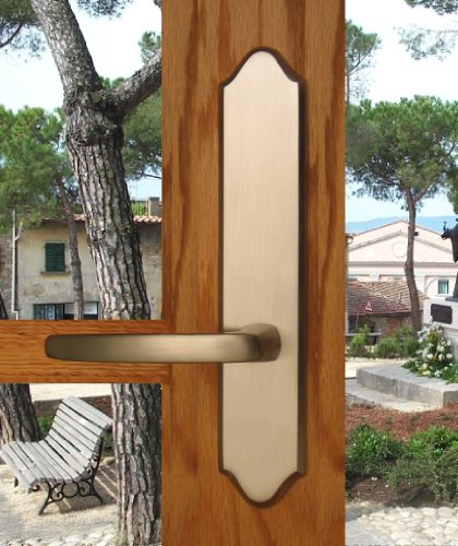 Tuscany by FPL- Solid Brass Active Trim Only Lever Set for Multipoint Lock, Schlage Keyway, Lifetime Polished Brass PVD ()
