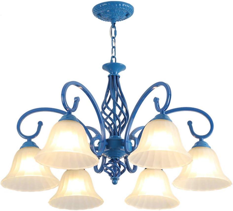 Moderna Lámpara De Techo Minimalista Para Sala De Estar Color Azul 6 Luces Iluminación Interior E27 26 8 X 15 0 In Home Improvement Amazon Com