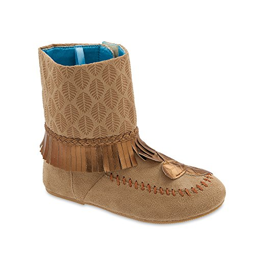Disney Pocahontas Costume Boots for Kids Size 13/1 YTH ()