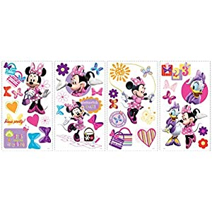 RoomMates Minnie Bow-Tique Peel and Stick Wall Decals – RMK1666SCS