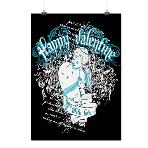 [Happy Valentine Love Cupid Heart Matte/Glossy Poster A4 (9x12 inches) | Wellcoda] (Cupid Halloween Costumes Uk)