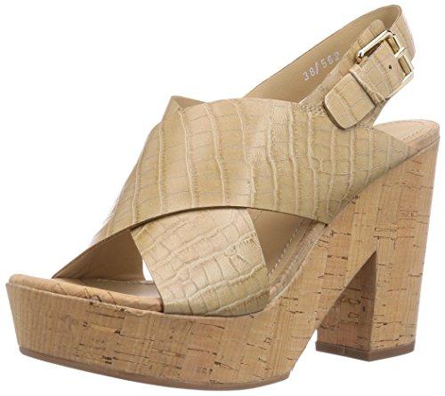 Bruno Premi B4703P - Sandalias de vestir de piel para mujer beige - Beige (Naturale)