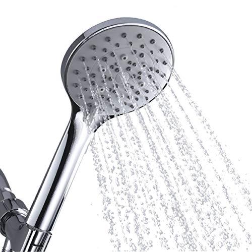 - F&R Handheld Shower Head High Pressure 5 Spray Settings Massage Spa Detachable Hand Held Showerhead 4.3