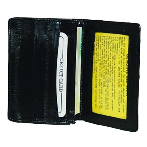 Black Eel (EEL Skin Leather Business Credit Card Holder #E324)