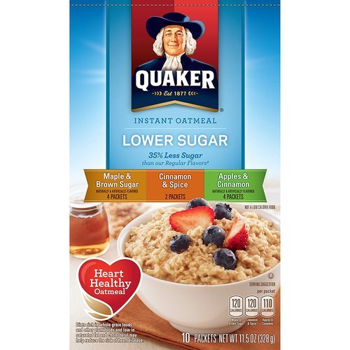 Quaker Instant Oatmeal Lower Sugar Variety Pack – 10ct