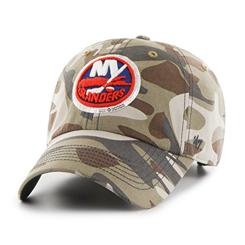 '47 NHL New York Islanders Women's Sparkle Camo Clean Up Adjustable Hat, One Size, Faded Camo