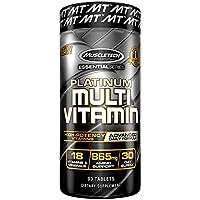 MuscleTech Advanced Daily Multivitamin para hombres y mujeres, incluye aminoácidos, 18 vitaminas y minerales (100% de vitaminas diarias A, C, D, E, B6 y B12), 90 unidades