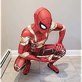 - 51MpDOtfaVL - Spider-Man Cosplay Costume | Iron Spider | PS4 Insomniac Spiderman | Bagley | Superior |All New Lycra Fabric | Bodysuit