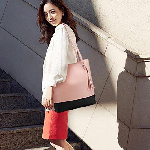 Femme Rose Hangbag A Beautyjourney Seau BandoulièRe Sac De Sac Sac Glands Messager Femmes Sac Main Dos Sacs Main A Chic à Sac twwpq1