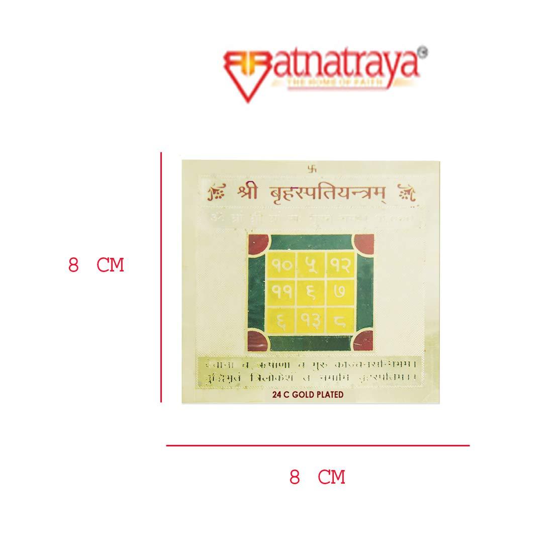 Jupiter for Negative /& Malefic Effects of Weak Jupiter Astroruchi Energized Shri Brihaspati Yantra Yantra for Good Fortune /& Knowledge