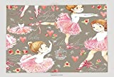 Supersoft Fleece Throw Blanket Ballerina Seamless Pattern With Cute Girl 437527315