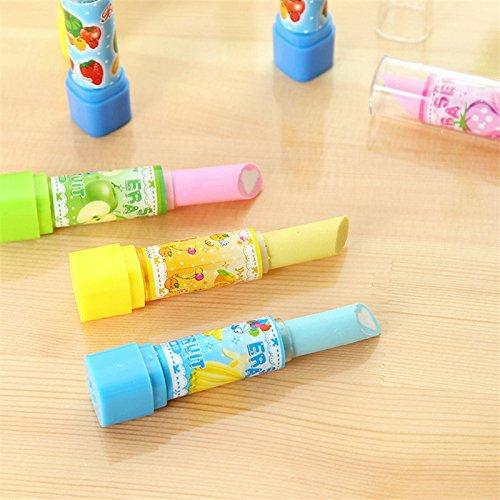 haodou 4/PCS novit/à Rossetto forma gomma da cancellare divertente giocattolo per bambini compleanno creativo Eraser per bambini cancelleria
