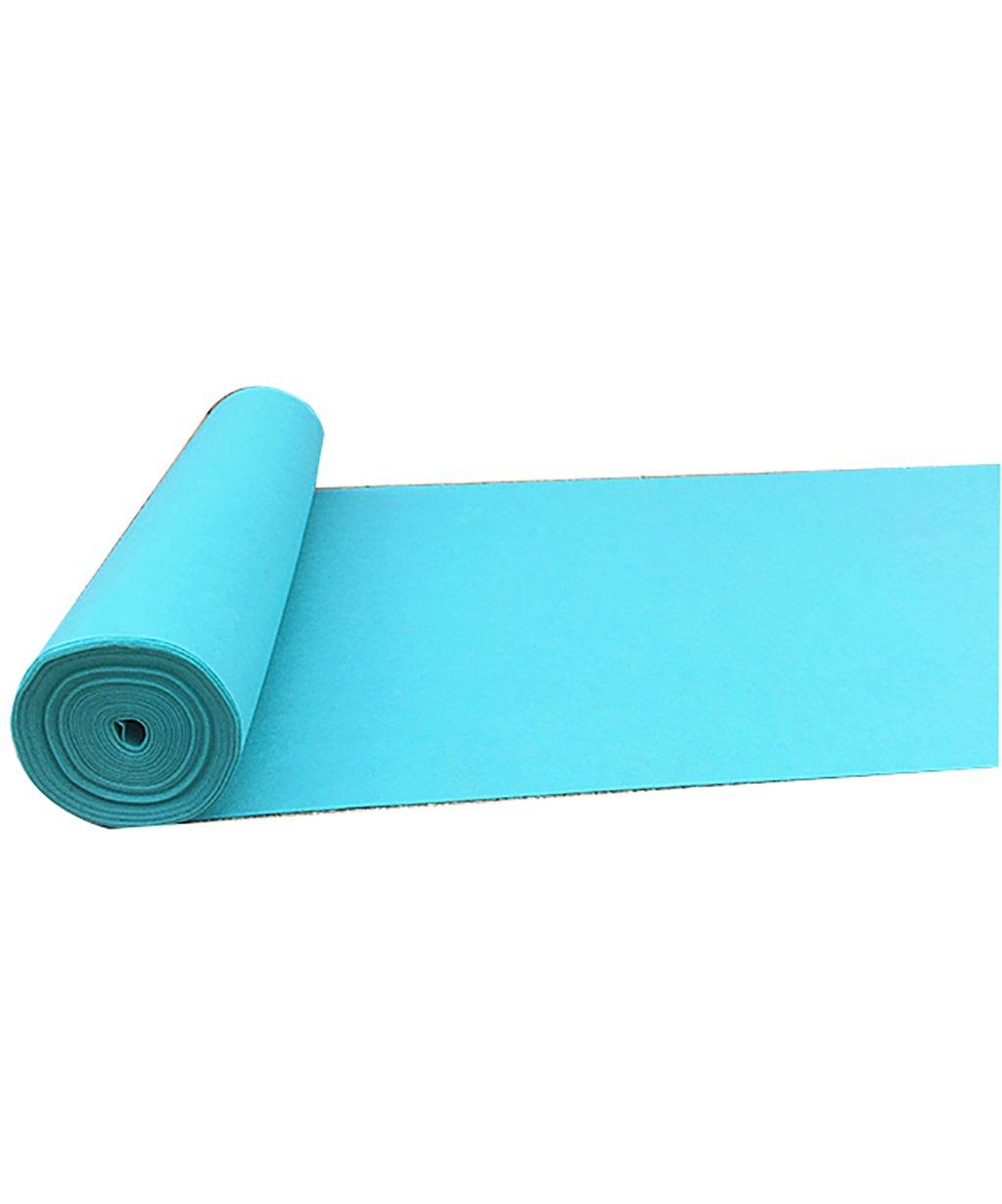 QiangDa Tappeto Nuziale Tappeti Sposa Moquette Monouso, Tessuti Non Tessuti, Cielo Blu, Spessore 2mm 12 Formati Opzionale (Dimensioni   1.2m10m2mm)