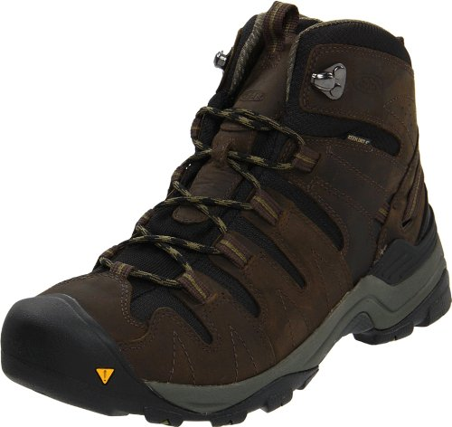 KEEN Mens Gypsum Mid Black Olive/Capulet Olive, Increased stability to go the miles Marrón