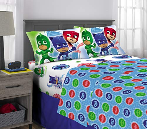 PJ Masks Kids Bedding Super Soft Microfiber Sheet Set, 4 Piece Full Size, - Kids Full Sheet Set Bedding