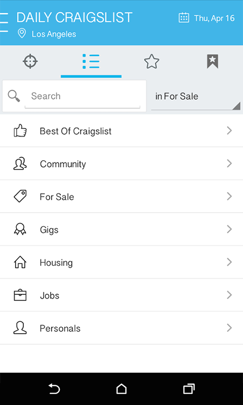 Amazon Com Daily For Craigslist App Appstore Android