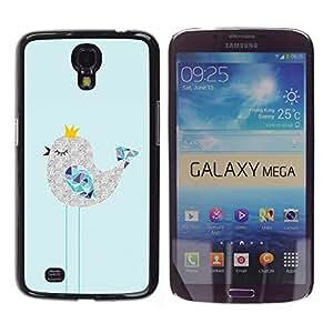 For Samsung Galaxy Mega 6.3 / i9200 / SGH-i527 , S-type® Cute Sleepy Drawing Art Polygon - Arte & diseño plástico duro Fundas Cover Cubre Hard Case Cover