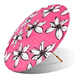 Lily-Lark Mod Flowers UV protection sun parasol, rated UPF 50+