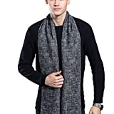 Raylans Men's Winter Warm Soft Scarf Plaid Long Cashmere Scarves