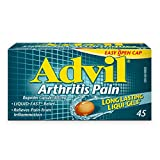 Advil Arthritis Pain 400 Mg Ibuprofen, Inflammation And Temporary Pain Reliever, 45 Count