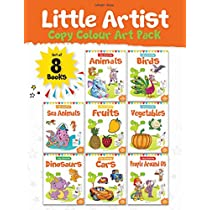 Little Artist Copy Colouring Pack Set of 8 books