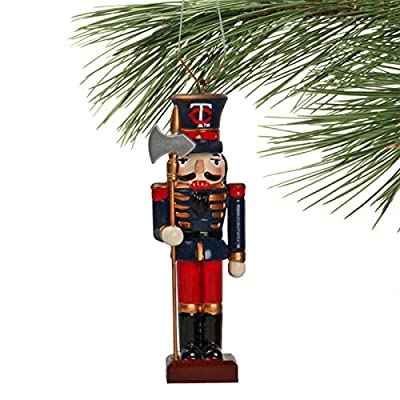 MLB Nutcracker with Axe Minnesota Twins Christmas Ornament