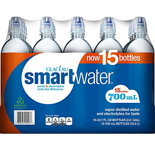 Glaceau SmartWater Water with Sports Cap (700ML bottles, 15 pk.)