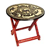 NOVICA Animal Themed Wood Folding Tables, Multicolor, 'African Grasslands'