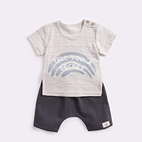 Bebé, verano, manga corta, traje, moda, dos piezas, niño, 80 cm ...