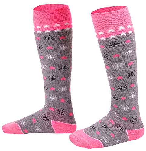 Lullaby Kids Kids Skiing Socks Full Terry Lightweight Warm Wool Snow Ski Socks