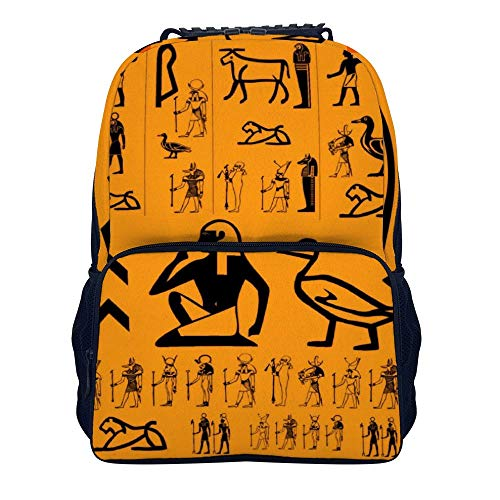 Mens Women & Teens Backpacks Funny bookbags Work daypacks Ancient Egypt Clipart Backpack Suitable for School,Camping,Travel,Outdoors ()