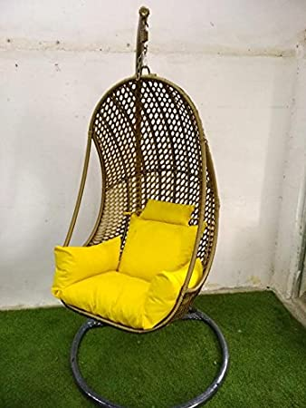 Wicker HUB GC408 Outdoor Swing with Stand Golden Shine