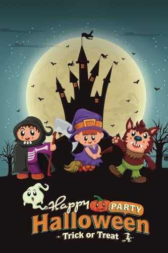 Happy Halloween 4 Grid Notebook: 150 page Grid Notebook Journal Diary (Spookies 150 Grid Notebooks) (Volume 93) -