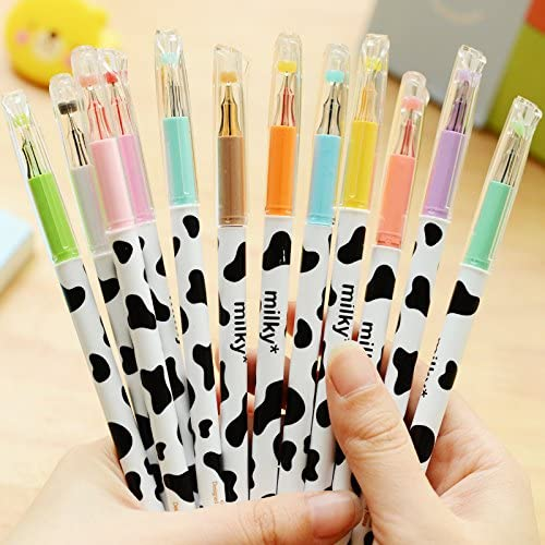 Ultra Slim 12Pcs Candy Colored Diamond Gel Pen School Supplies Draw Colored Pens