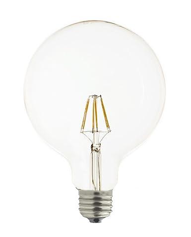 Laes 983821 Bombilla Globe Filamento LED E27, 6 W, 125 X 175 mm