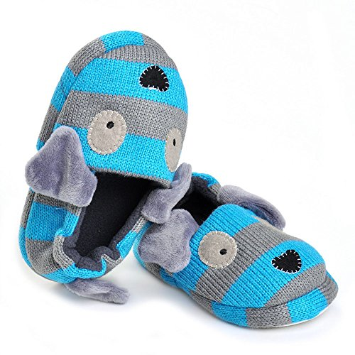 Pictures of Enteer Baby Boys' Doggy Slipper Blue 4