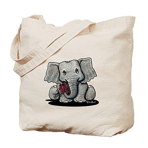 CafePress–KiniArt elefante Tote Bag–Natural gamuza de bolsa de lona bolsa, bolsa de la compra