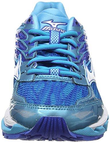 Mizuno Wave Paradox 3 (W), Zapatillas De Running para Mujer Azul (Blue Atoll/white/strong Blue)