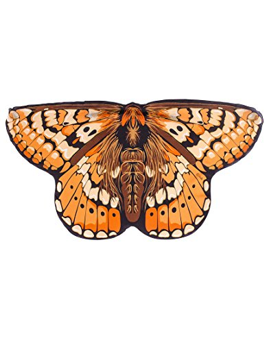 [Marsh Fritillary Butterfly Win] (Orange Adult Butterfly Costumes)