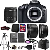 Canon EOS Rebel 1300D/T6 D-SLR Camera with 64GB Top Accessory Kit + Additional Battery