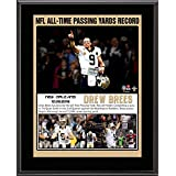 """Drew Brees New Orleans Saints 10.5"""" x 13"""" NFL Passing Yards Record Sublimated Plaque - NFL Player Plaques and Collages"""