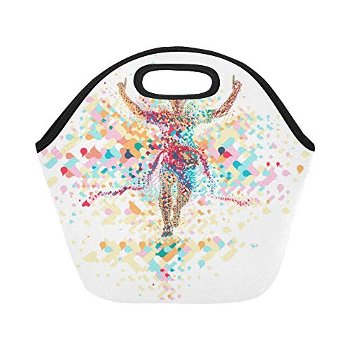 Insulated Neoprene Lunch Bag Crossing The Finish Line Wallpaper X Large Size Reusable Thermal Thick Lunch Tote Bags For Lunch Boxes For Outdoors,work, Office, School