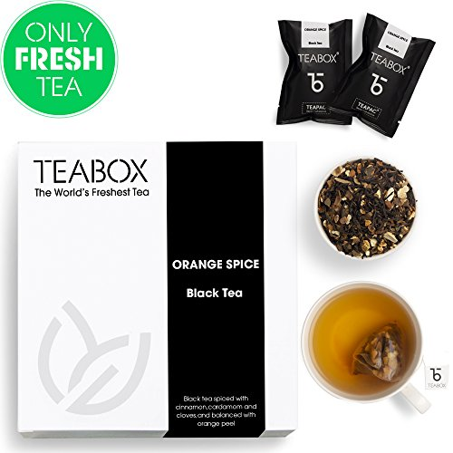 (Teabox Orange Spice Cinnamon Black Tea, 16 Tea Bags)