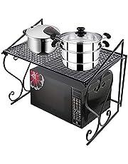 Magnetronhouder keukenrek houder houder magnetron houder rek voor magnetron keuken (zwart)