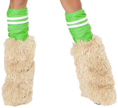 J. Valentine Women's Mc Hamster Green Sporty Legwarmers, Green/White, One Size