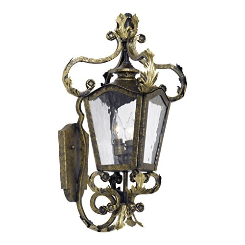 Castle Bronze Outdoor Hanging Lantern (Alumbrada Collection Acadiana Outdoor Wall Lantern In Castle Bronze And Water Glass)