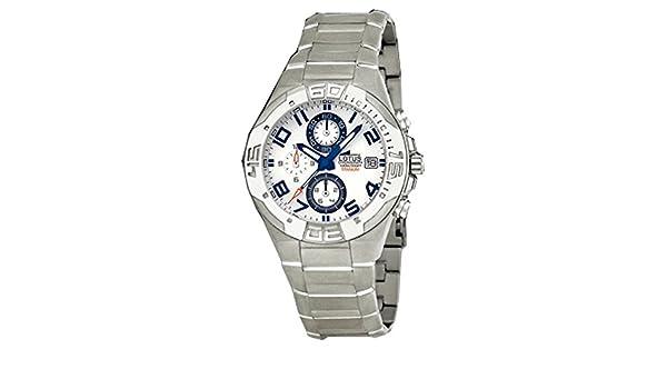 Reloj de caballero crono de titanio resistente al agua 100 metros  Amazon.es   Relojes 14a0c7e21e13